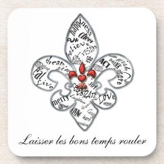 Personalized Fleur de Lis Heartfelt Expressions Beverage Coasters