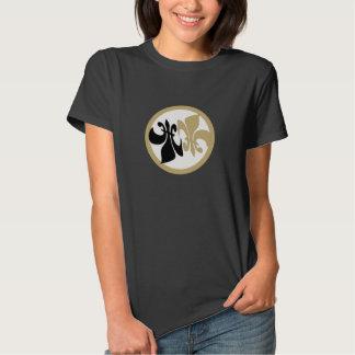 Personalized Fleur de Lis Yin Yang Black Gold Tee Shirts