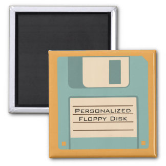 Personalized Floppy Disk Square Magnet