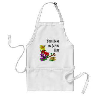 Personalized Floral Art Gardener Saying Apron