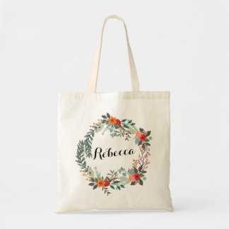 Personalized Floral Bridesmaid Tote Budget Tote Bag