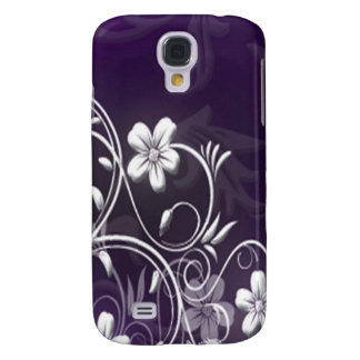 Personalized floral Iphone case 3G purple Galaxy S4 Cover