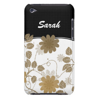 personalized floral ivory gold iPod touch cover
