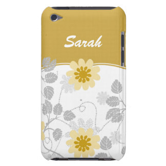 personalized floral ivory yellow iPod Case-Mate cases