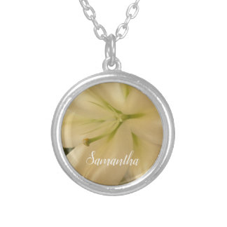 Personalized Floral Necklace