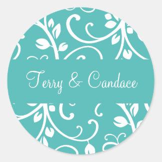 Personalized Floral Vine Envelope Sticker Seal