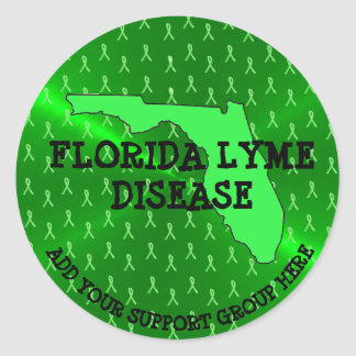 Personalized Florida Lyme Awareness Stickers