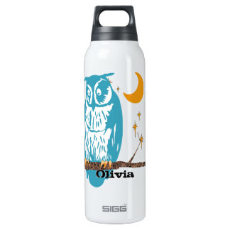 Personalized Flower Cute Owls Recycle Sign 0.5 Litre Insulated SIGG Thermos Water Bottle