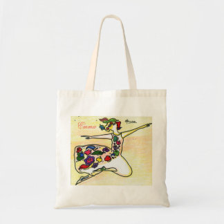 Personalized flower girl dancer tote bag