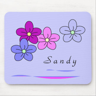 Personalized Flower Mousepads