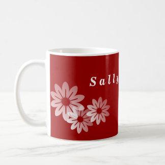 Personalized Flower Mugs