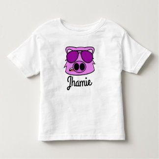 Personalized Fly Pig Toddler T-Shirt