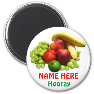 Personalized Food Magnets for Kids with Fruit
