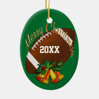Personalized Football Christmas Ornament YOUR TEXT