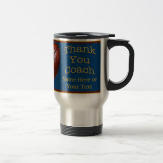 Personalized Football Coach Gifts Your TEXT, COLOR Travel Mug