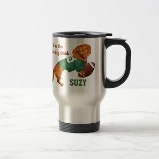 Personalized Football Dachshund Mugs