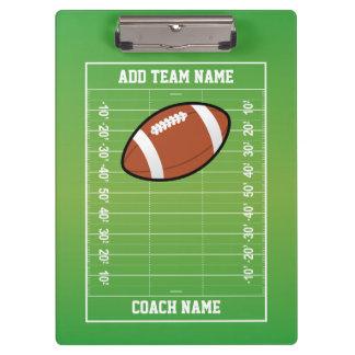 Personalized Football Field Coach Clipboard
