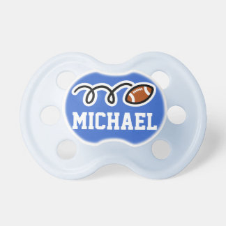 Personalized football pacifer for baby boy dummy