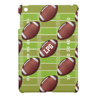 Personalized Football Pattern on Sports Field iPad Mini Case