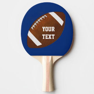 Personalized Football Ping Pong Paddle, Your Color Ping Pong Paddle