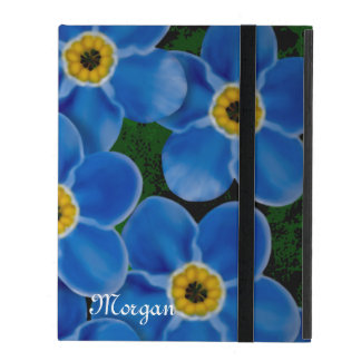 Personalized Forget-me-not iPad Covers