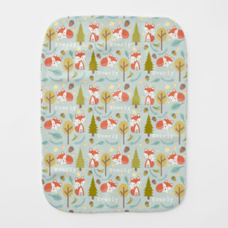 Personalized Fox Baby Burp Cloth