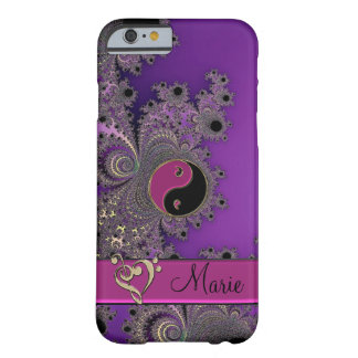 Personalized Fractal Yin-Yang Music Clef Heart Barely There iPhone 6 Case