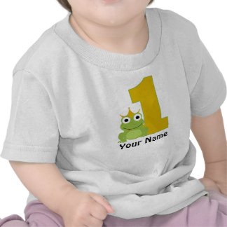 Personalized Frog First BIrthday Shirt