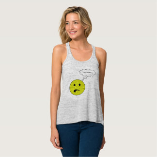 Personalized Frowning Face Singlet