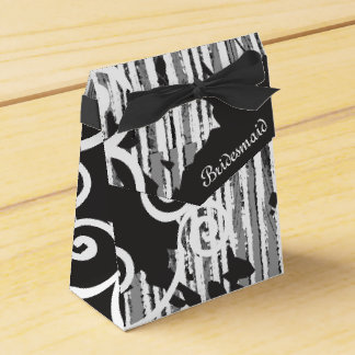 Personalized Funky Bridesmaid Wild Black and White Favour Boxes