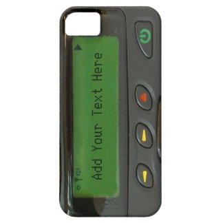 Personalized Funny 90s Old School Pager Barely There iPhone 5 Case