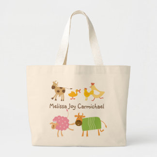 Personalized Funny Farm Animals Tote Bag