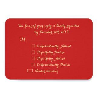 Personalized Funny Holiday Christmas Party RSVP Card