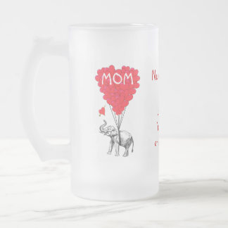 Personalized funny mothers day frosted beer mugs