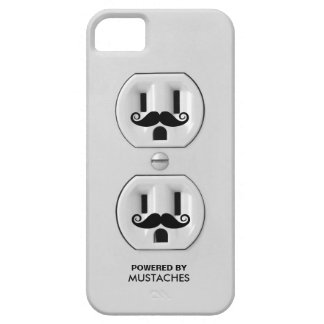 Personalized Funny Mustache Power Outlet Case For The iPhone 5