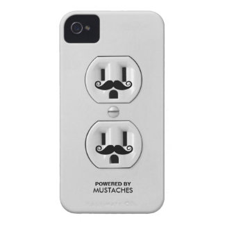 Personalized Funny Mustache Power Outlet iPhone 4 Case-Mate Case