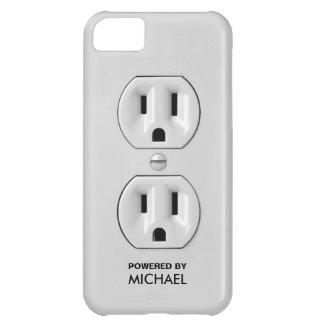 Personalized Funny Power Outlet iPhone 5C Cases