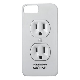Personalized Funny Power Outlet iPhone 7 Case