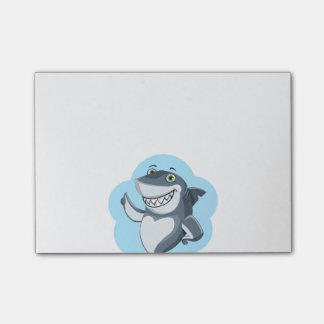 Personalized Funny Shark Cartoon Post-it Notes