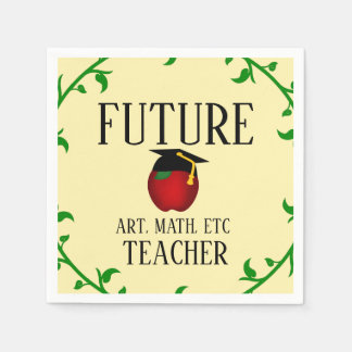 Personalized Future Teacher Graduation Apple Disposable Napkin