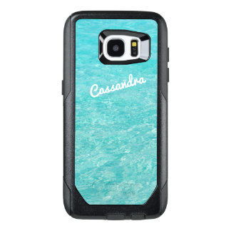 Personalized Galaxy 7 Edge Case | Clear Blue Water