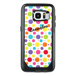 Personalized Galaxy 7 Edge Case | Colorful Dots