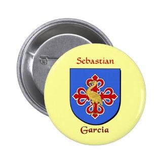 Personalized Garcia Historical Shield Pinback Button