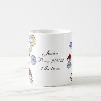 Personalized Garden Fairy Folk Art Coffee Mug