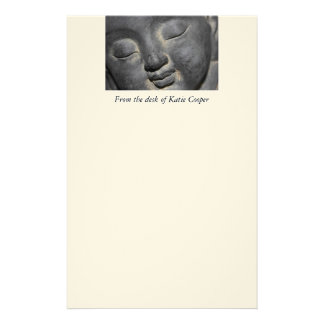 Personalized Gentle Buddha Face Stationery Design
