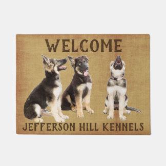 Personalized German Shepherd Puppies Doormat