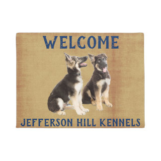 Personalized German Shepherd Puppies Doormat