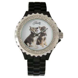 Personalized German Shepherd Puppies Watch