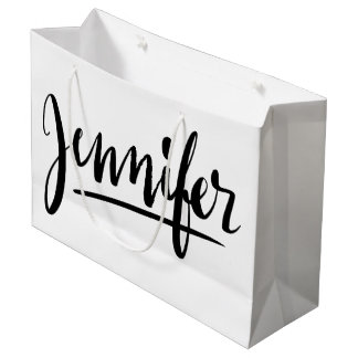 Personalized gift bag with the name Jennifer