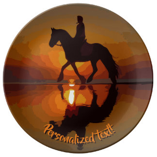 Personalized Gift Horse lover. Love Horses! Plate